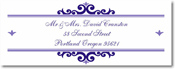 Name Doodles - Rectangle Address Labels/Stickers (Bellingham Iris)
